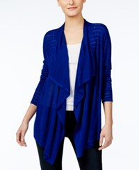 Inc International Concepts Pointelle Cardigan Only At Macy's Goddess Blue