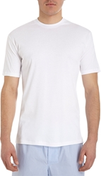 Zimmerli Sea Island Crew Neck Tee White