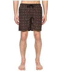 Billy Reid Bay Swimshorts Gold Black Men's Swimwear
