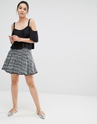 Sister Jane Tweed Mini Skirt Blue