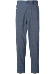 Pringle Of Scotland Tapered Trousers Blue