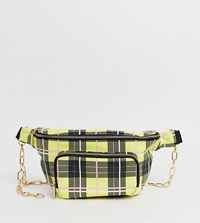 Skinnydip Toya Yellow Check Large Bum Bag Multi