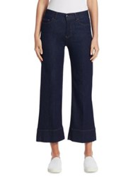 Emporio Armani Five Pocket Cropped Jeans Solid Blue