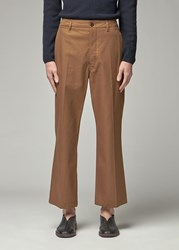 Christophe Lemaire 'S Heavy Twill Chino Pant In Dark Earth Size 50 100 Cotton
