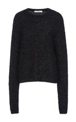 Tibi Easy Crewneck Pullover Black