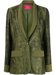 F.R.S For Restless Sleepers Floral Printed Blazer Green