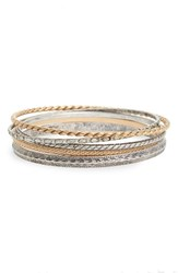 Treasure And Bond Women's Set Of 6 Ornate Etched Bangles