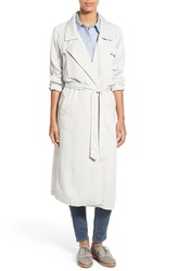 Women's Bb Dakota 'Knox' Tencel Belted Long Trench Coat