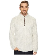 True Grit Frosty Tipped Pile 1 4 Zip Pullover Oatmeal Long Sleeve Pullover Brown