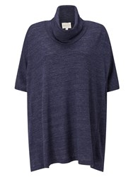 East Oversize Cowl Jersey Top Blue