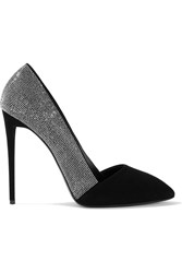 Giuseppe Zanotti Disco Embellished Suede Pumps