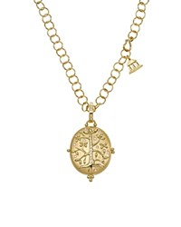 Temple St. Clair 18K Yellow Gold Tree Of Life Locket With Diamonds Gold White