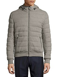 Ralph Lauren Long Sleeve Quilted Hooded Jacket Dark Smoke