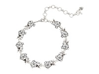 Betsey Johnson Something New Necklace Flower Rhinestone Collar Crystal Silver Ox Plate Necklace