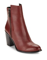 Kenneth Cole Ingrid Leather Ankle Boots Red
