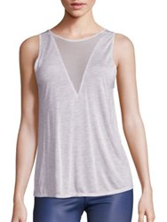 Alo Yoga Warm Up Mesh Inset Tank Top Dusk Heather