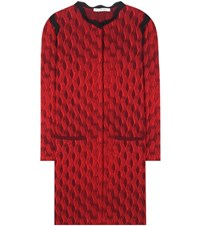 Mary Katrantzou Powden Silk Blend Cardigan Red