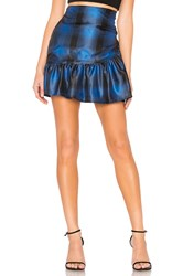 Lovers Friends Brent Mini Skirt Blue