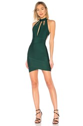 By The Way Ansie Halter Cut Out Dress Dark Green