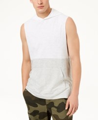 American Rag Colorblocked Sleeveless Hoodie Bright White