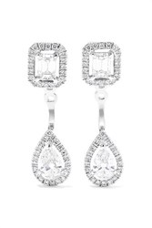 Messika My Twin Toi And Moi 18 Karat White Gold Diamond Earrings One Size