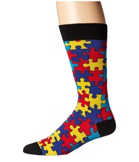 Socksmith Puzzled Multi Crew Cut Socks Shoes