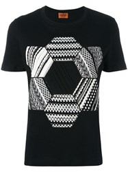 Missoni Knitted Patch T Shirt Black