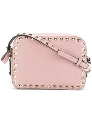 Valentino Garavani Rockstud Cross Body Bag Women Leather One Size Pink Purple