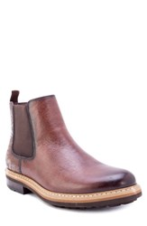 Robert Graham Yates Textured Chelsea Boot Brown Leather