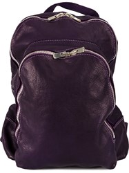 Guidi Multi Functional Backpack Pink And Purple