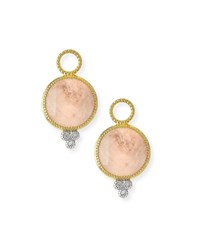 Jude Frances Provence Round Morganite Earring Charms With Diamonds Gold