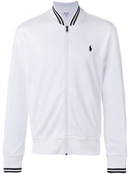 Polo Ralph Lauren Logo Zip Cardigan White