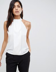 Vesper Pleat Front Top White