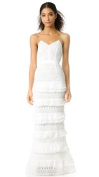 Self Portrait Penelope Tiered Gown White