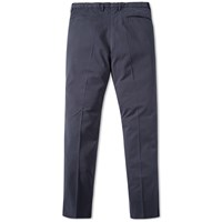Incotex Garment Dyed Slim Fit Stretch Chino Blue