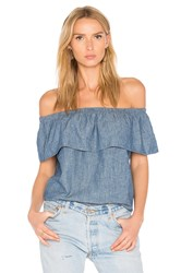 Levi's Ruffled Top Blue