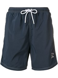 Paul And Shark Embroidered Logo Swimshorts Blue
