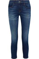 Iris And Ink Gabrielle Cropped Mid Rise Skinny Jeans Mid Denim