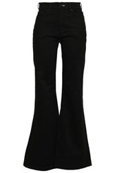 Mcq By Alexander Mcqueen Woman High Rise Flared Jeans Black