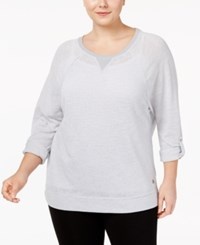 Calvin Klein Performance Plus Size Dolman Sleeve Tunic Stone