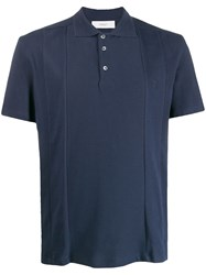 Pringle Of Scotland Stitched Panel Polo Shirt 60