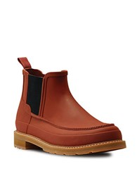 Hunter Moc Toe Pull On Chelsea Boots Burn Siena