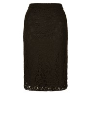 Planet Lace Pencil Skirt Black