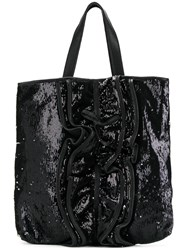 Red Valentino Sequinned Tote Black