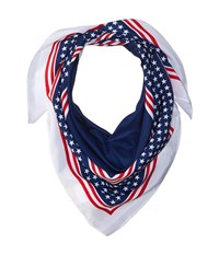 Collection Xiix Stars Stripes Square Red White Blue Scarves Multi