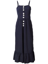See By Chloe Button Front Sundress Blue