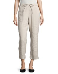 Nydj Solid Cropped Pants Stone