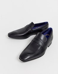 Ted Baker Galah Penny Loafers In Black Leather