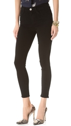 Gold Sign Virtual High Rise Skinny Jeans Focus