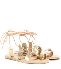 Ancient Greek Sandals Alcyone Metallic Leather Sandals Gold